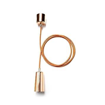 Klein & More 14756 Plumen - Cable para colgar lámparas de techo, color bronce