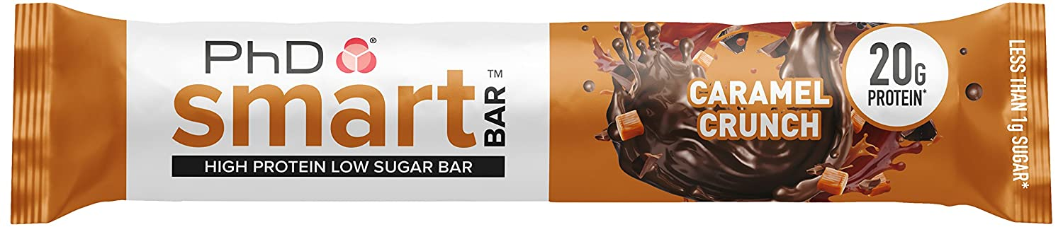PhD Smart Bar Caramel Crunch - 12 Barras: Amazon.es: Salud y cuidado personal