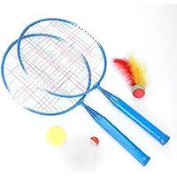 TOPINCN Topeinn - Juego de 2 Raquetas de bádminton para Entrenamiento de niños, Ligeras, Resistentes y prácticas, Incluye 1 Bola de bádminton, Bola de Plumas