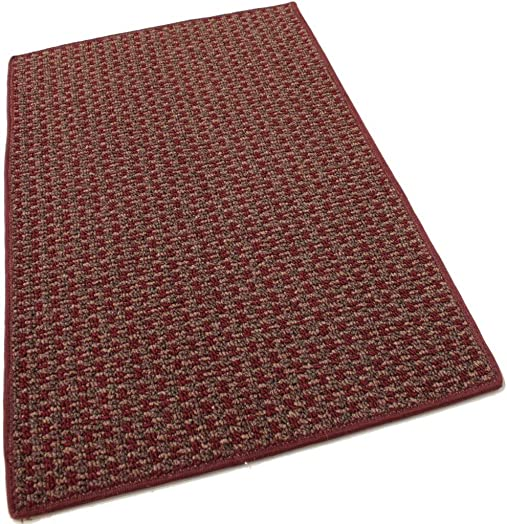Koeckritz 9 x12 Tahoe New London Indoor Durable Level Loop Area Rug for The Home with Premium Bound Polyester Edges.
