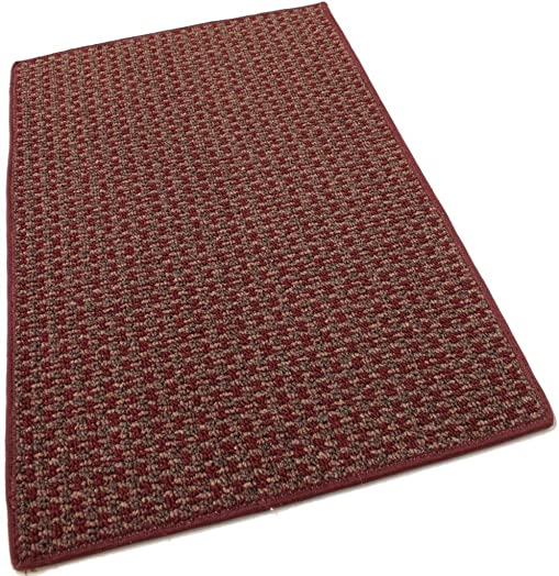Koeckritz 5 x8 Tahoe New London Indoor Durable Level Loop Area Rug for The Home with Premium Bound Polyester Edges.