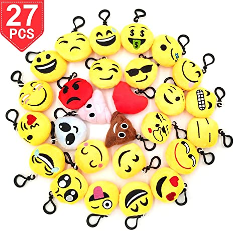 Amazon.com: Emoji llaveros para celebraciones por Time ...
