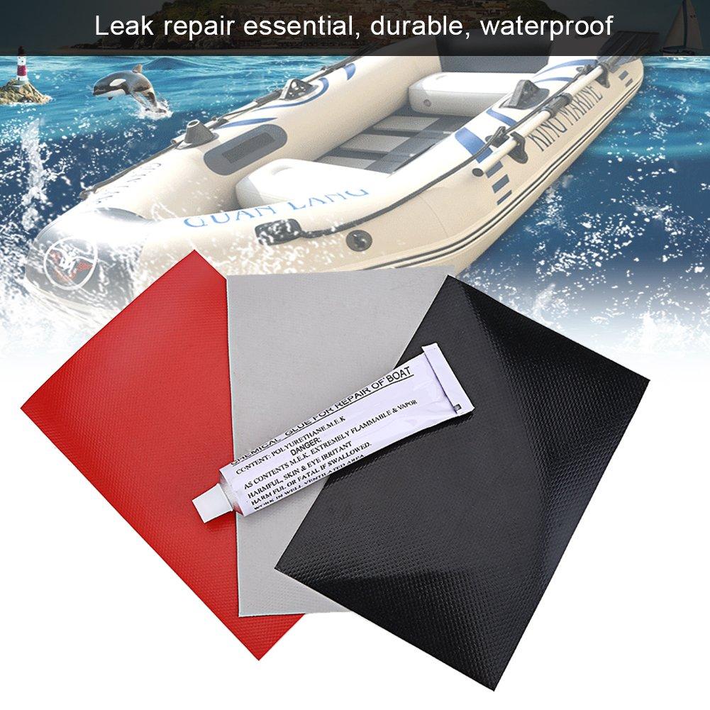 5PCS Alomejor Toppe di Riparazione del PVC per Gommone Barca 3PZ Corredo di Riparazione Professionale del Kayak Gonfiabile Battello Pneumatico