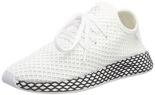 separation shoes 6f2e2 991fe adidas Deerupt Runner, Scarpe Stringate Derby Uomo, Multicolore (White  FtwwhtCblack)