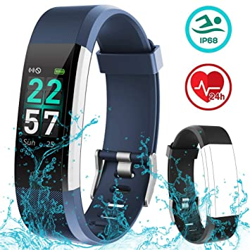 Rayfit Pulsera Actividad Inteligente Reloj Deportivo Impermeable Fitness Tracker Monitor de Ritmo Cardíaco Podómetro Contador de Calorías Pasos ...