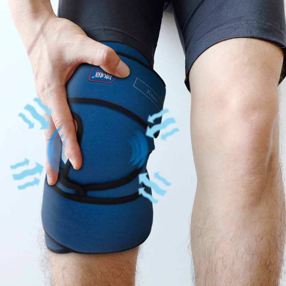 Compression Gel Wrap For KNEE Pain Relief. Reusable Cyro Cold Therapy Is Colder Than Ice For Long Lasting Pain Relief From Spasms, Swelling And Sore Muscles. Consistent Temperature For Hours. by Product Stop, Inc