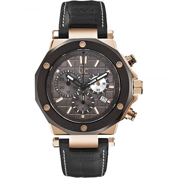 GC X72024G5S - Reloj para hombres, correa de cuero color marrón: Amazon.es: Relojes