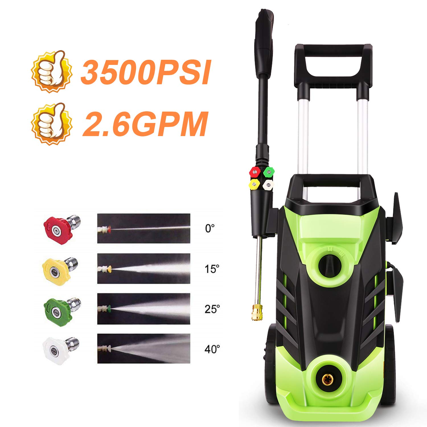 Homdox 3500PSI Electric Pressure Washer, 1800W Power Washer, 2.6GPM High Pressure Washer, Professional Washer Cleaner,4 Nozzles,HM5226