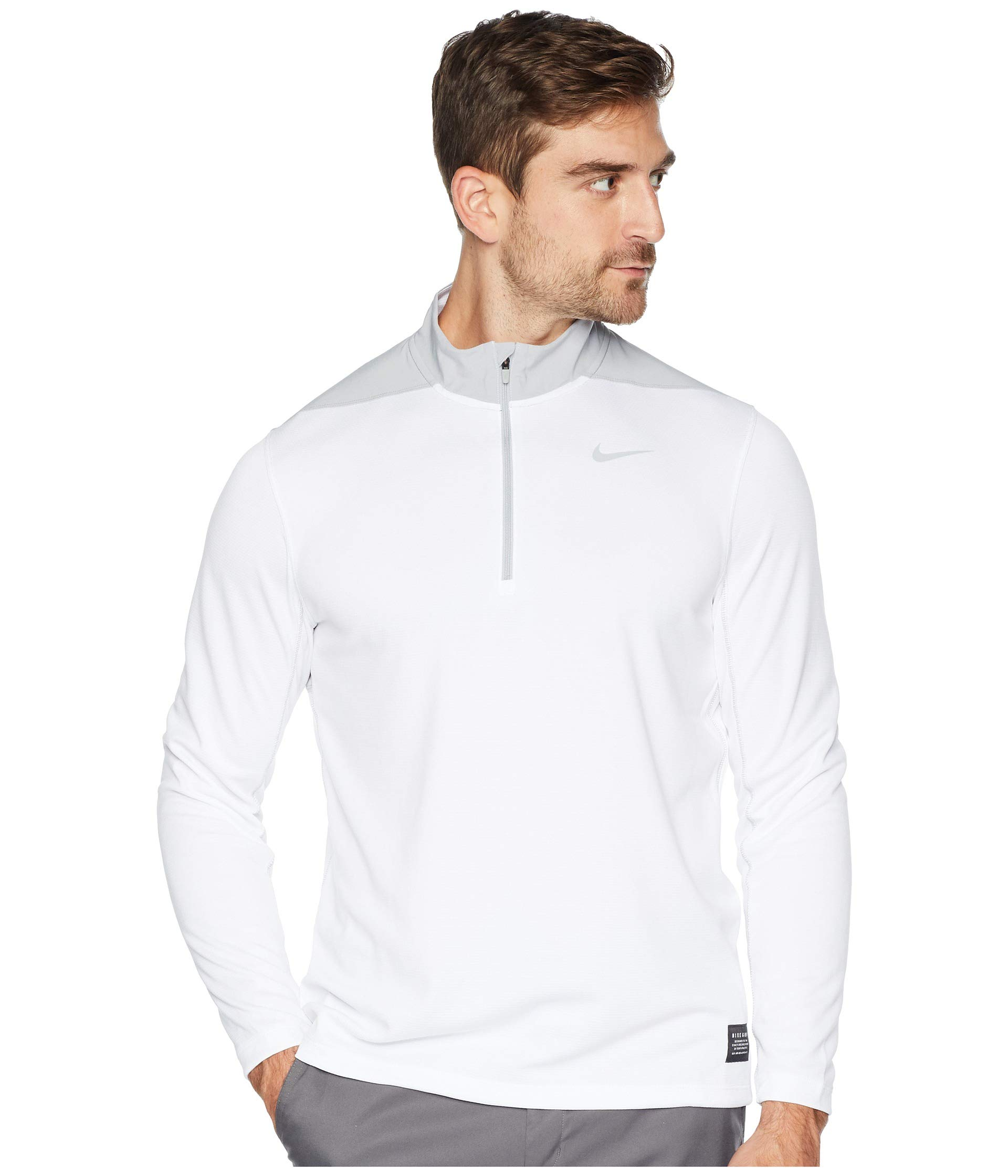 Nike Men's Dry Top Half Zip core Golf Top (White/Wolf Grey, Large) by Nike
