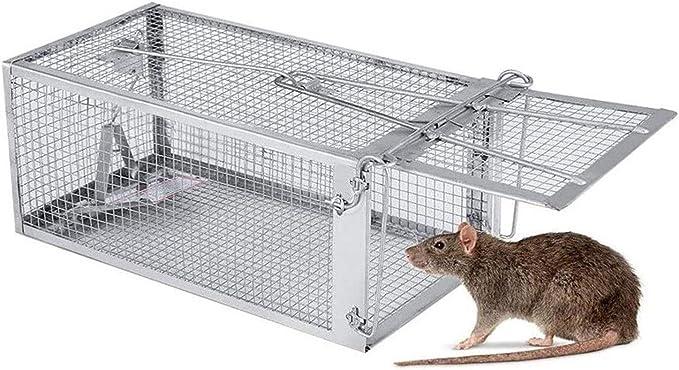 HEMFV 2 Piezas de Humane Reutilizable Ratones La Captura de ratón trampas de Cebo Snap roedores Catcher Ratonera Rat Caza Jaula