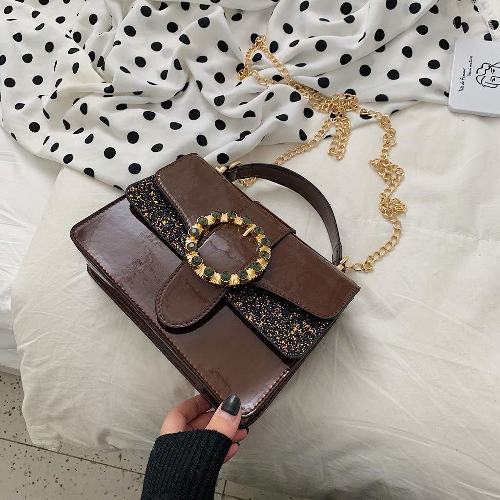 Messenger Bag,Womens Leather Sequins Crossbody Bag Shoulder Bags Hand Bag