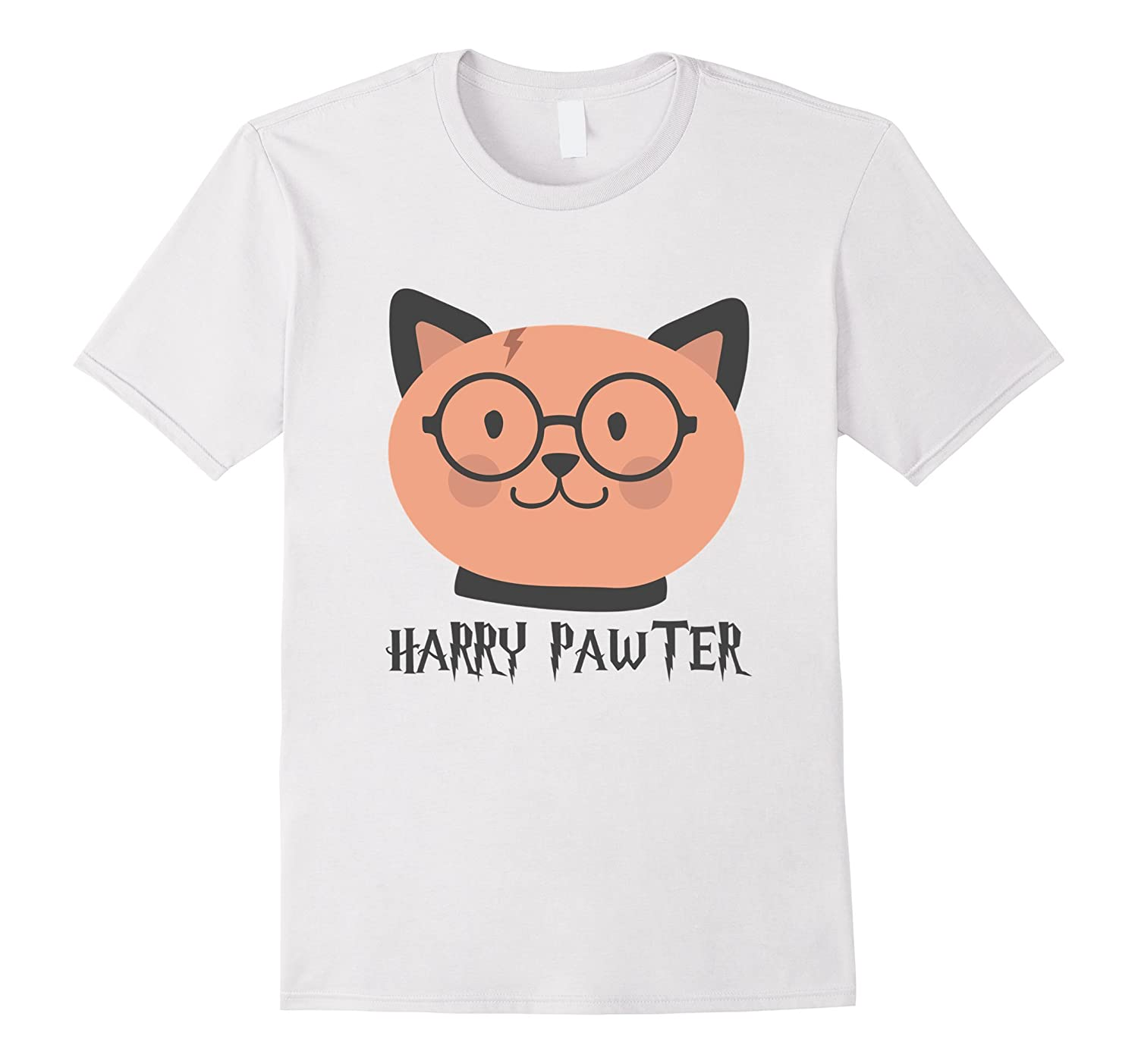 Harry Pawter Funny T-Shirt Cute Magic Cat With Glasses Gift