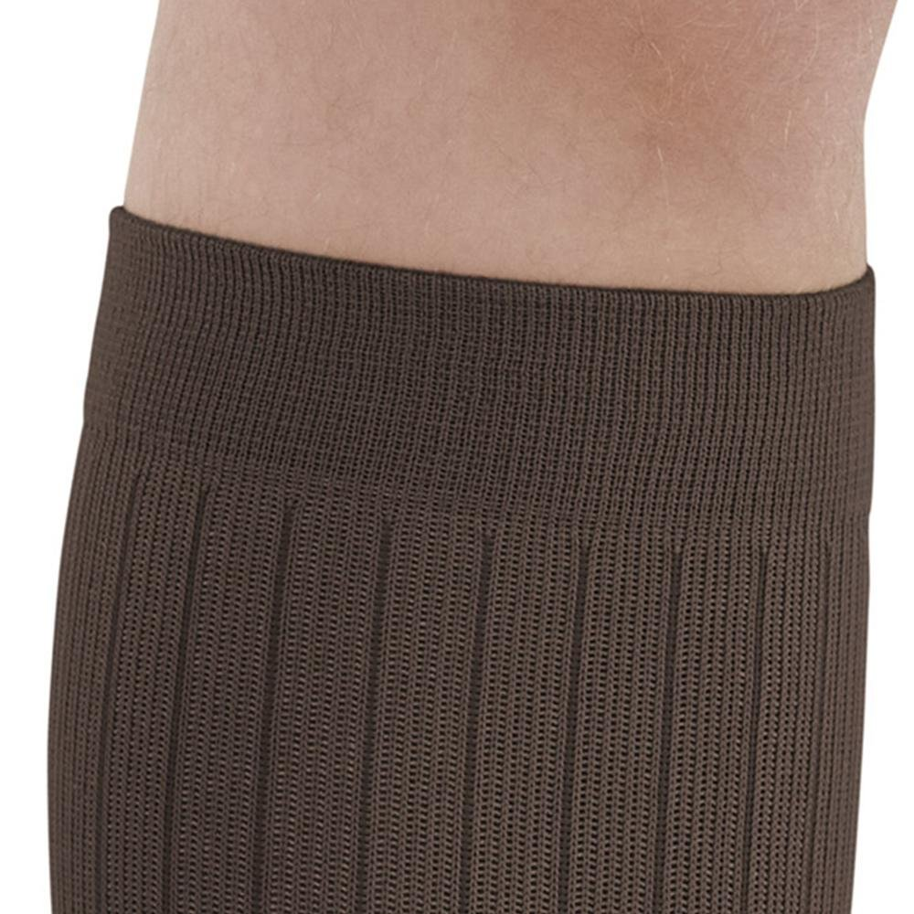 15-20 mmHg Khaki Large 129-L-KHAKI Nylon//SpandexCotton Ames Walker Mens AW Style 129 Microfiber//Cotton Compression Knee High Dress Socks