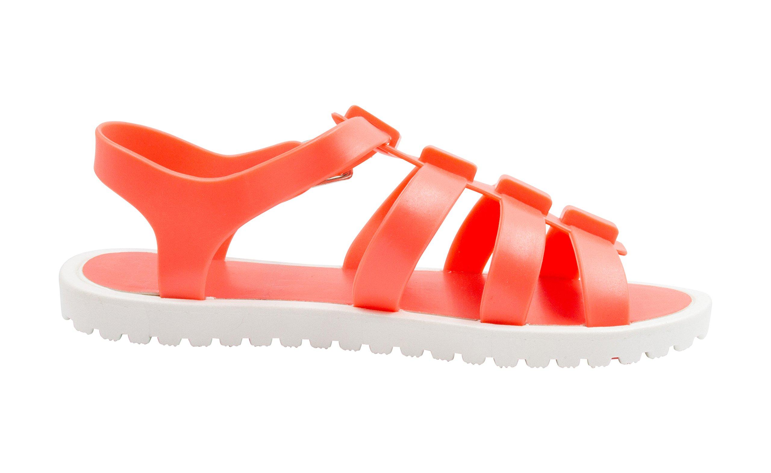 Sara Z Girls Jelly Strap Fisherman Sandals Coral Size 13/1