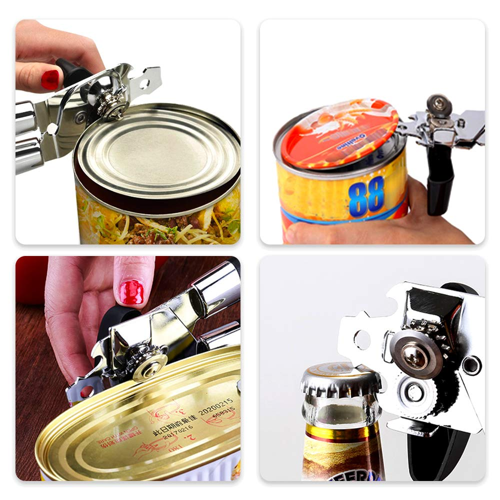 Choppie Can Opener Manual Handle Held Can Openers Top Rated Can Opener Manual Easy Crank Can Opener Durable /& Effortlessly Can Opener Soft Grips Non-Slip Handle Can opener Stainless Steel Can opener