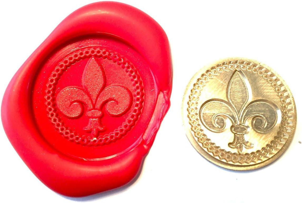 A Single FLEUR DE LYS Coin Seal XWSC094 S5