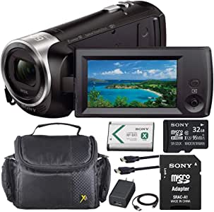 Sony HDR-CX440 HD Handycam with 8GB Internal Memory + Shoulder Case + Sony 32GB Memory