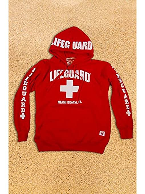 Amazon.com: Lifeguard Kids Miami Beach Florida Life Guard Sweatshirt Red Hoodie (Youth Me...: Clothing