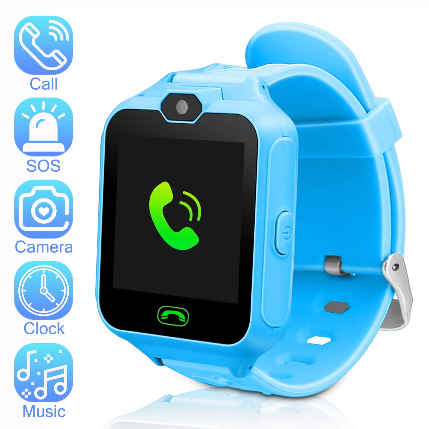 DUIWOIM Kids Smartwatch Phone Watch Mini Digital Camera with 1.44 Touch Screen Music Player Alarm Clock Calendar Calculator Birthday Gift for Boys and ...