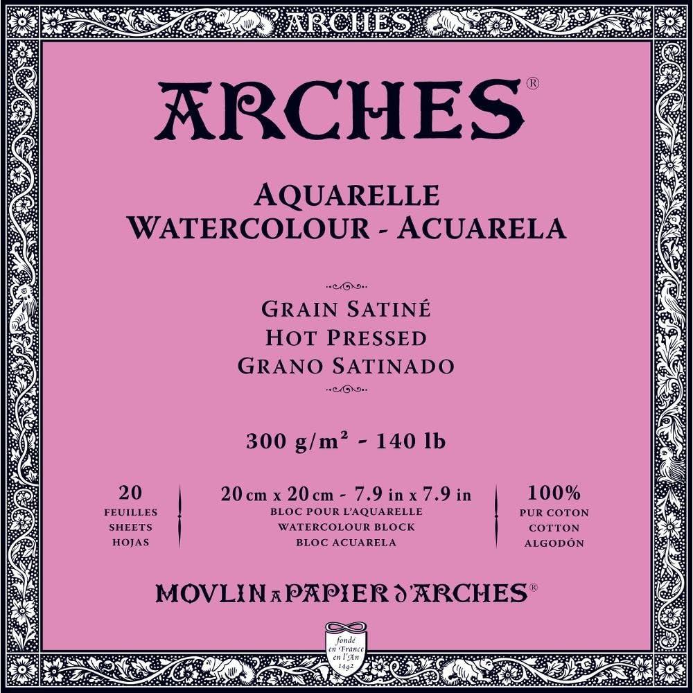 Arches Watercolor Paper Block 140 pound 8 x 10 Hot Press
