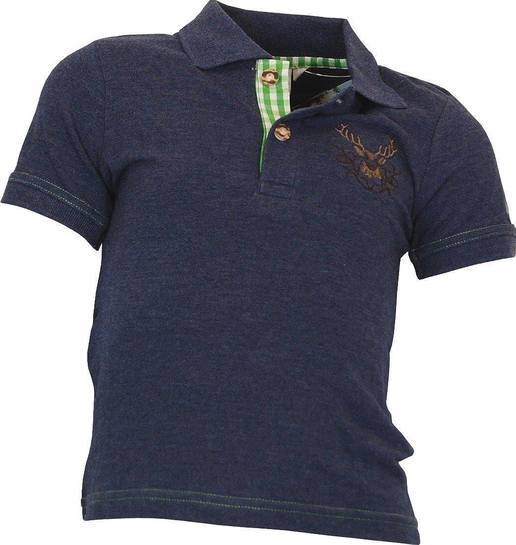 Isar-Trachten Kinder Polo Shirt Moosburg in 3 Farben