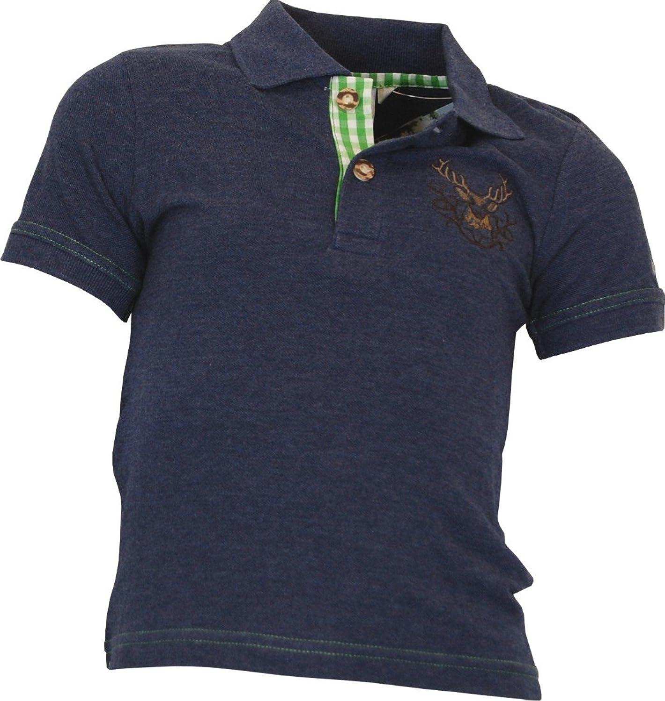 Isar Trachten Kinder Polo Shirt Moosburg in 3 Farben
