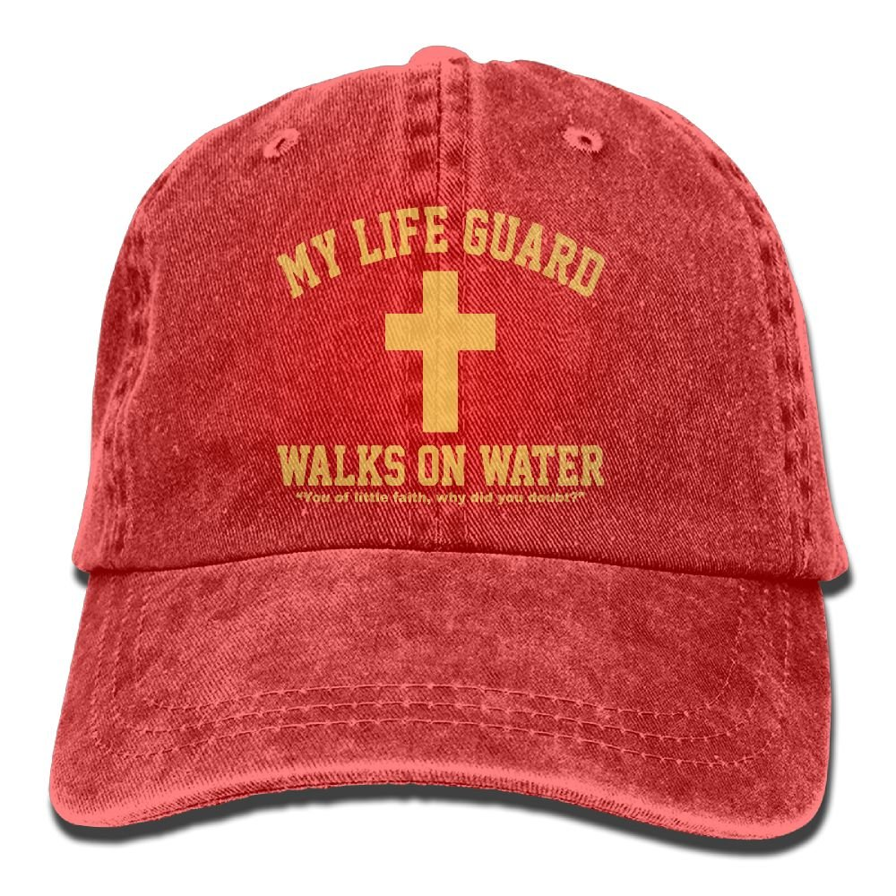 Men And Women My Life Guard Walks On Water Christian Vintage Jeans Baseball Cap