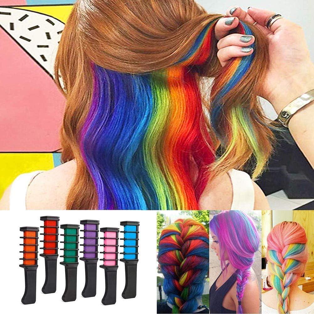 Symboat Hair Chalk Color Provisional de Cabello Kit de peines ...