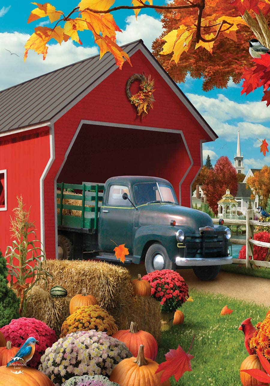 Briarwood Lane Harvest Bridge Autumn Garden Flag Pickup Truck Fall 12.5