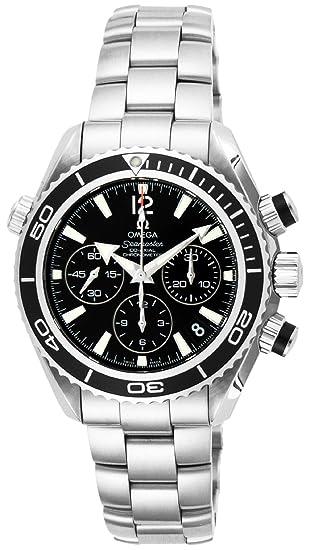 Relojes Omega Seamaster Planeta Océano Negro Dial 600 M impermeable coaxial automático cronógrafo 222.30.38.50