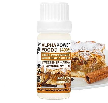 ALPHAPOWER FOOD Aroma alimentario - alimenticio, concentrado 1400%,1x10ml saborizante de alimentos Tarta