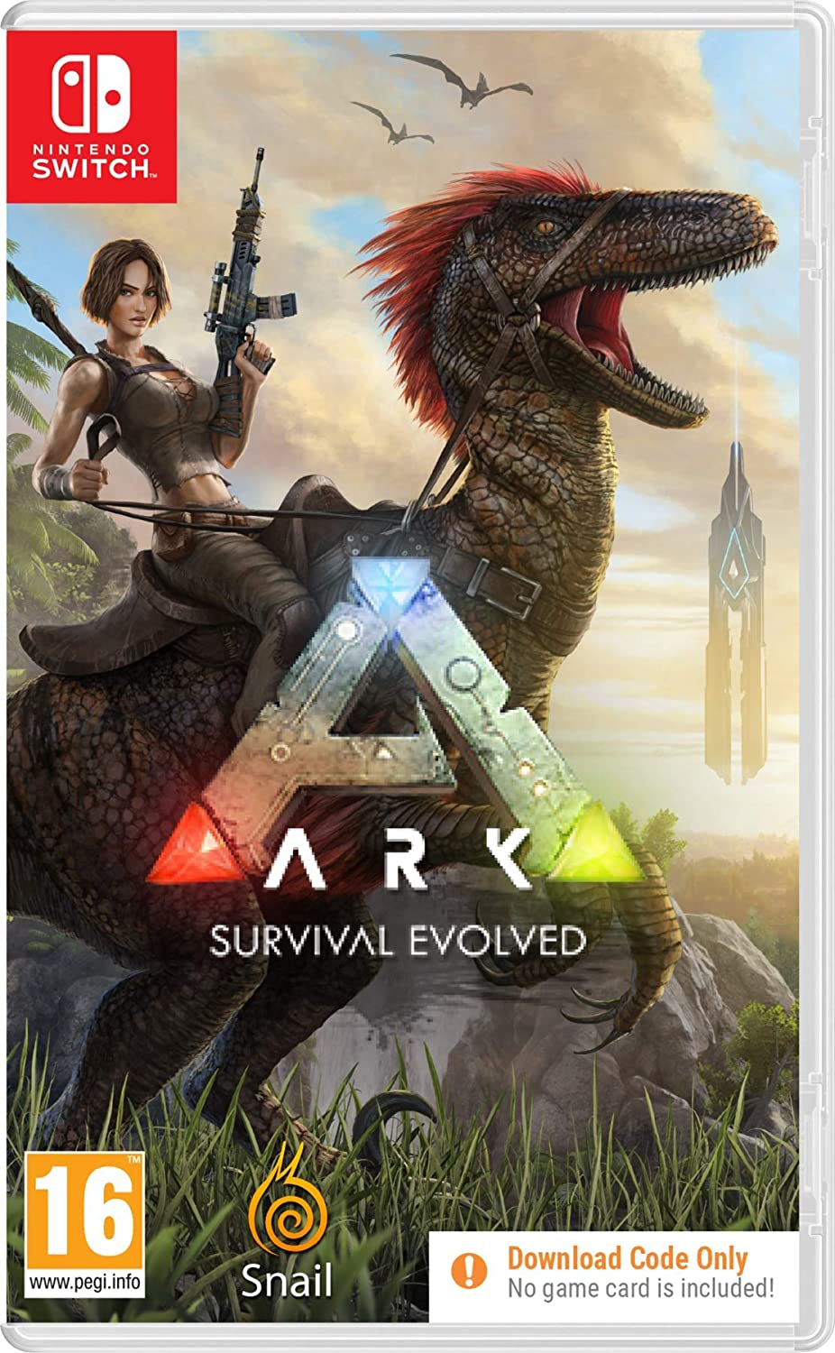 Amazon Com Ark Survival Evolved Code In A Box Switch Nintendo Switch Video Games