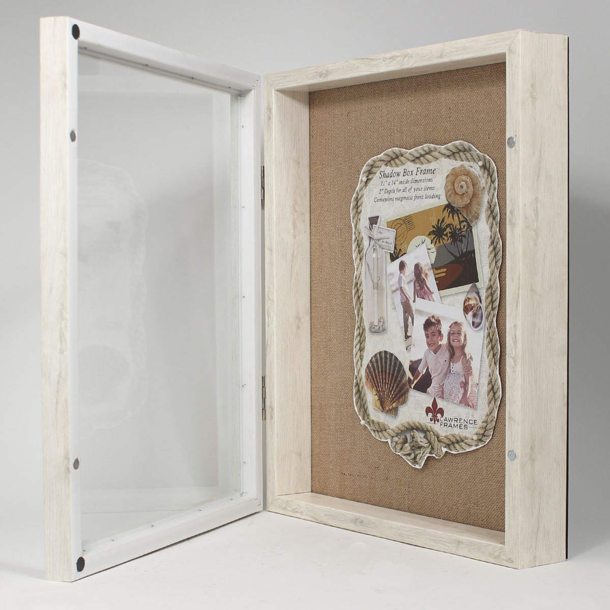 Amazon.com - Lawrence Frames Front Hinged Shadow Box Frame with Burlap Display Board 11 by 14-Inch Ivory - & Amazon.com - Lawrence Frames Front Hinged Shadow Box Frame with ... Aboutintivar.Com