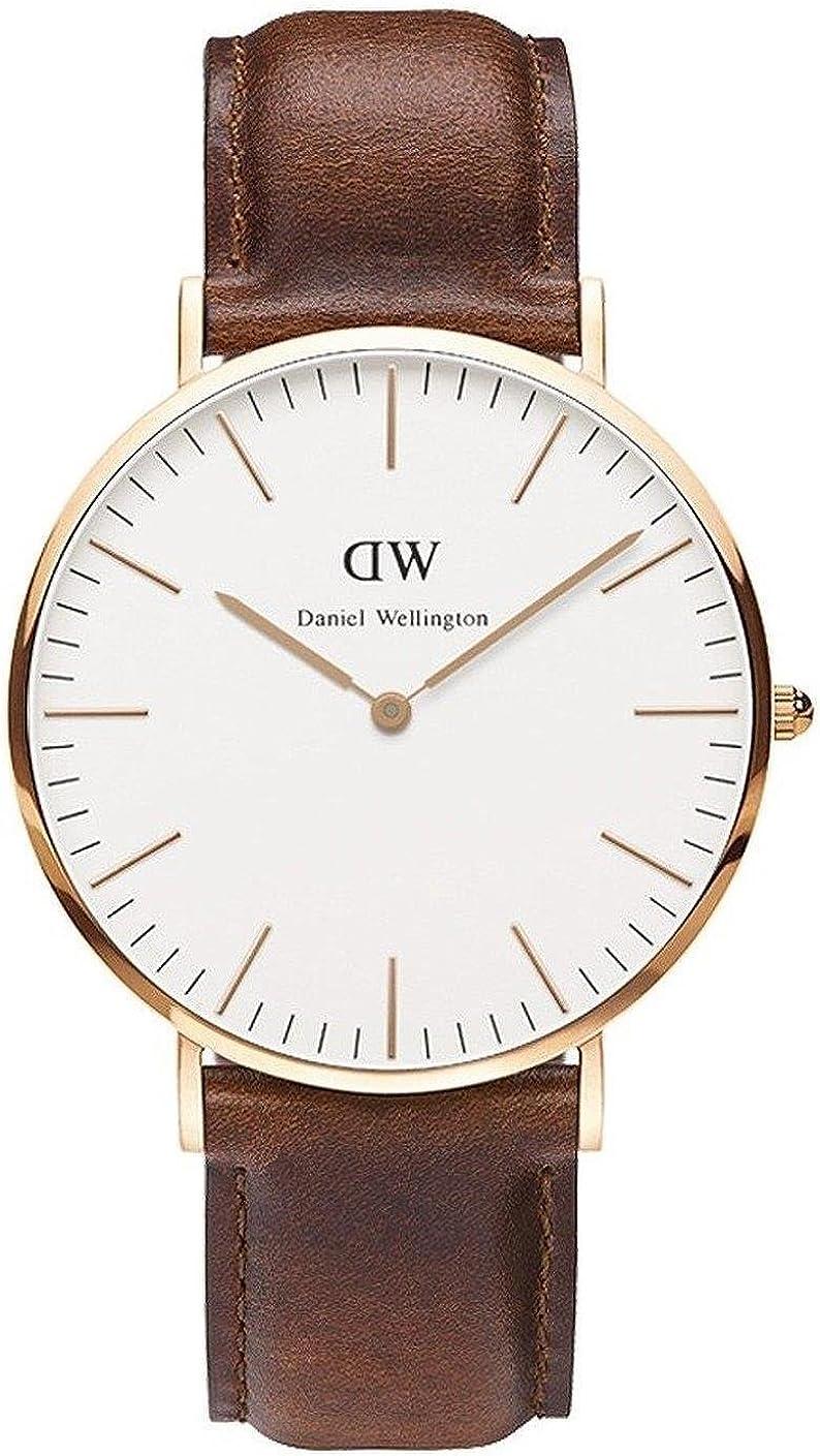 Orologio al quarzo da uomo daniel wellington quadrante analogico nero, al quarzo, taglia unica, colore: bianco 0106DW