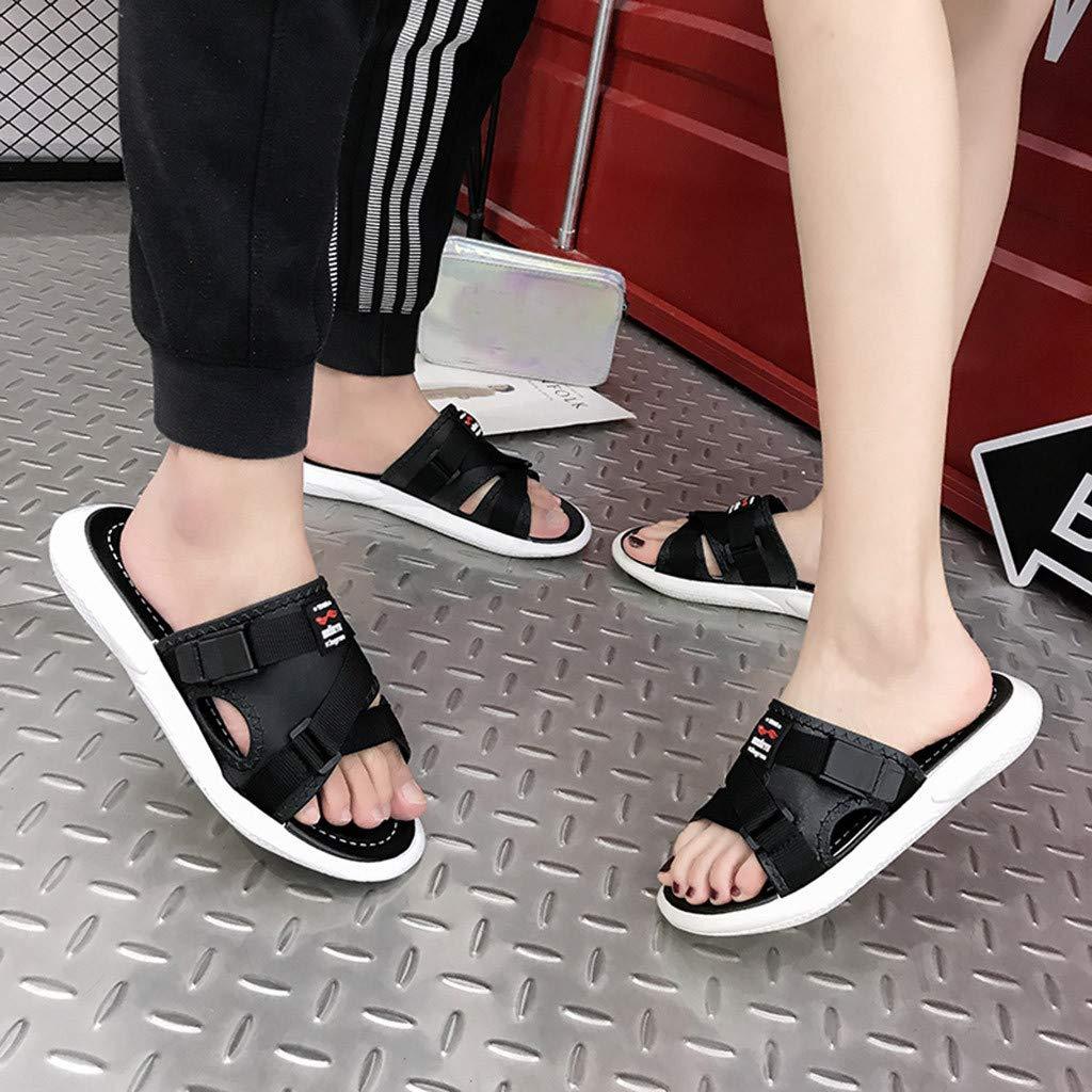 AOJIAN Shoes Women's Sandals Fashion Buckle Beach Flip Flop Slide Slipper Clog Mule Black by AOJIAN Shoes (Image #5)