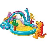 حمام سباحة للاطفال دينو مع منزلق من انتكس - متعدد الالوان موديل 57135