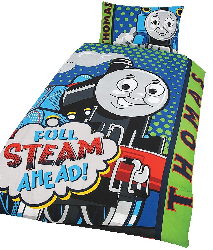 Character World Thomas Steam Panel Duvet Set, Single TTT-STE-SDP-MSC-06 Duvet_Covers_Shams Linens cover