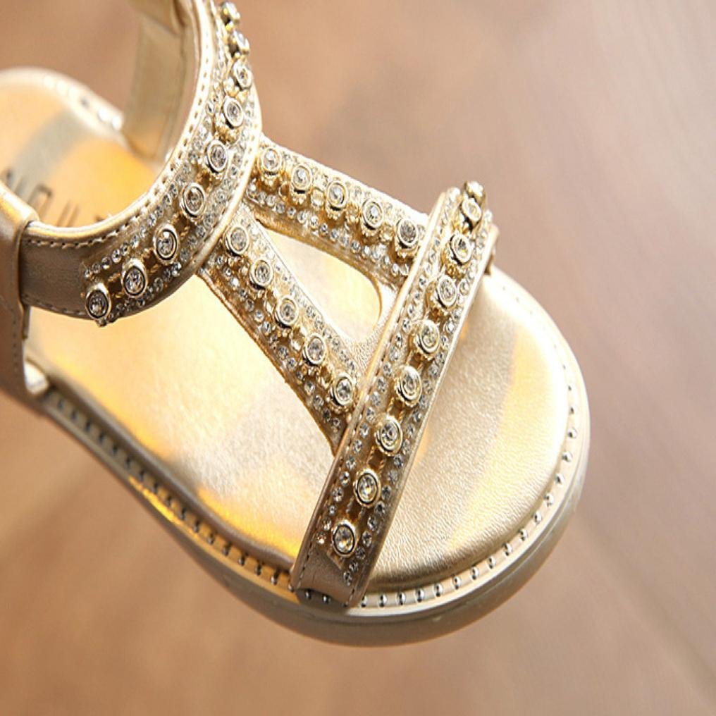 812838b1a Sandalias bebe niño niña Xinantime Verano Sandalias para bebés Sandalias de playa  Crystal Zapatos de princesa romana (24
