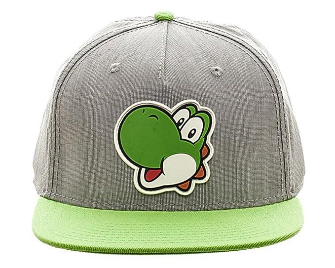 1a83433c621 Image Unavailable. Image not available for. Color  Nintendo Super Mario Bros  - Yoshi Rubber Logo Snapback Boys Hat