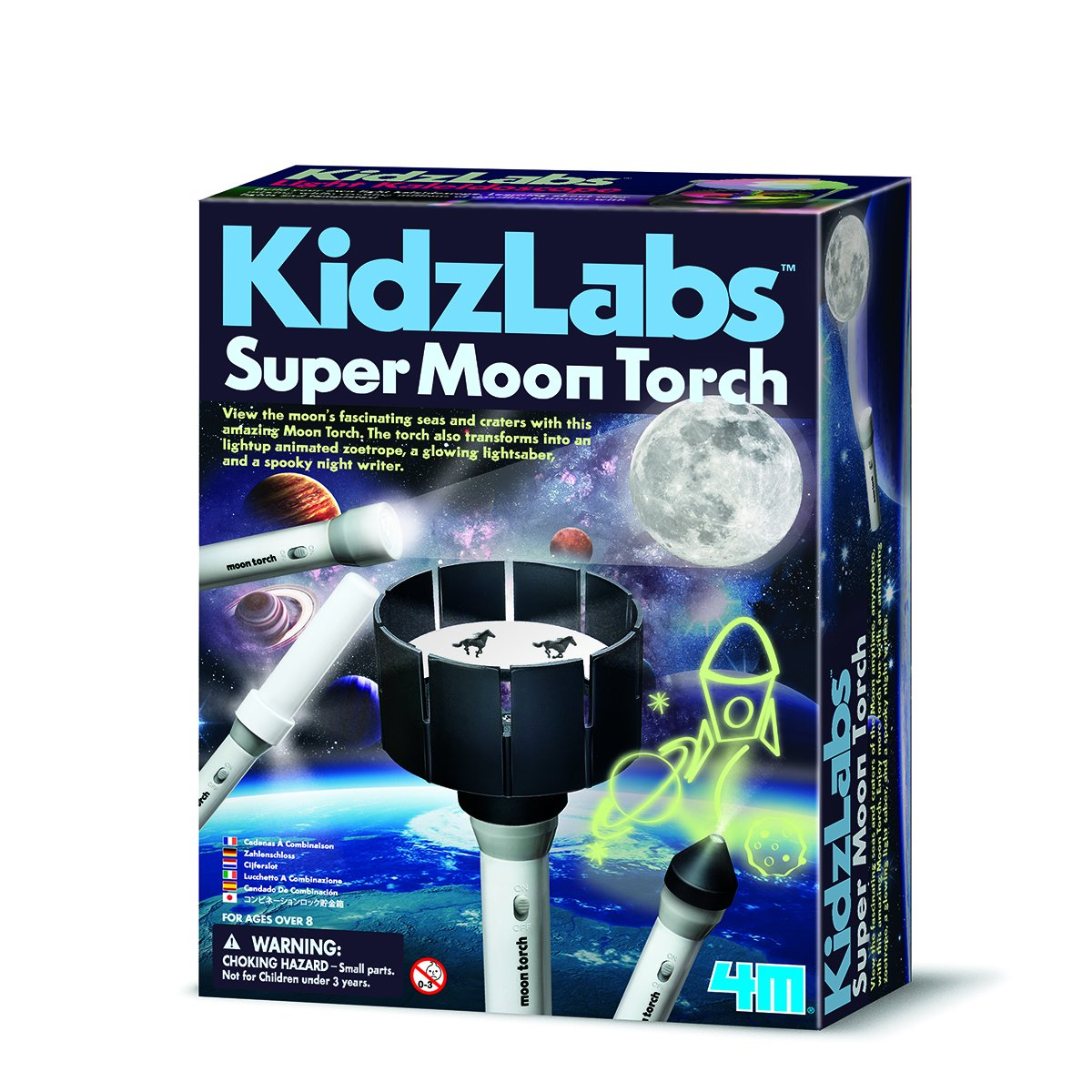 Jardines Online Warehouse Fun little project - No 1 Selling Girls & Boys Present Idea For Christmas Age 5+ Kidzlabs Super Moon Torch