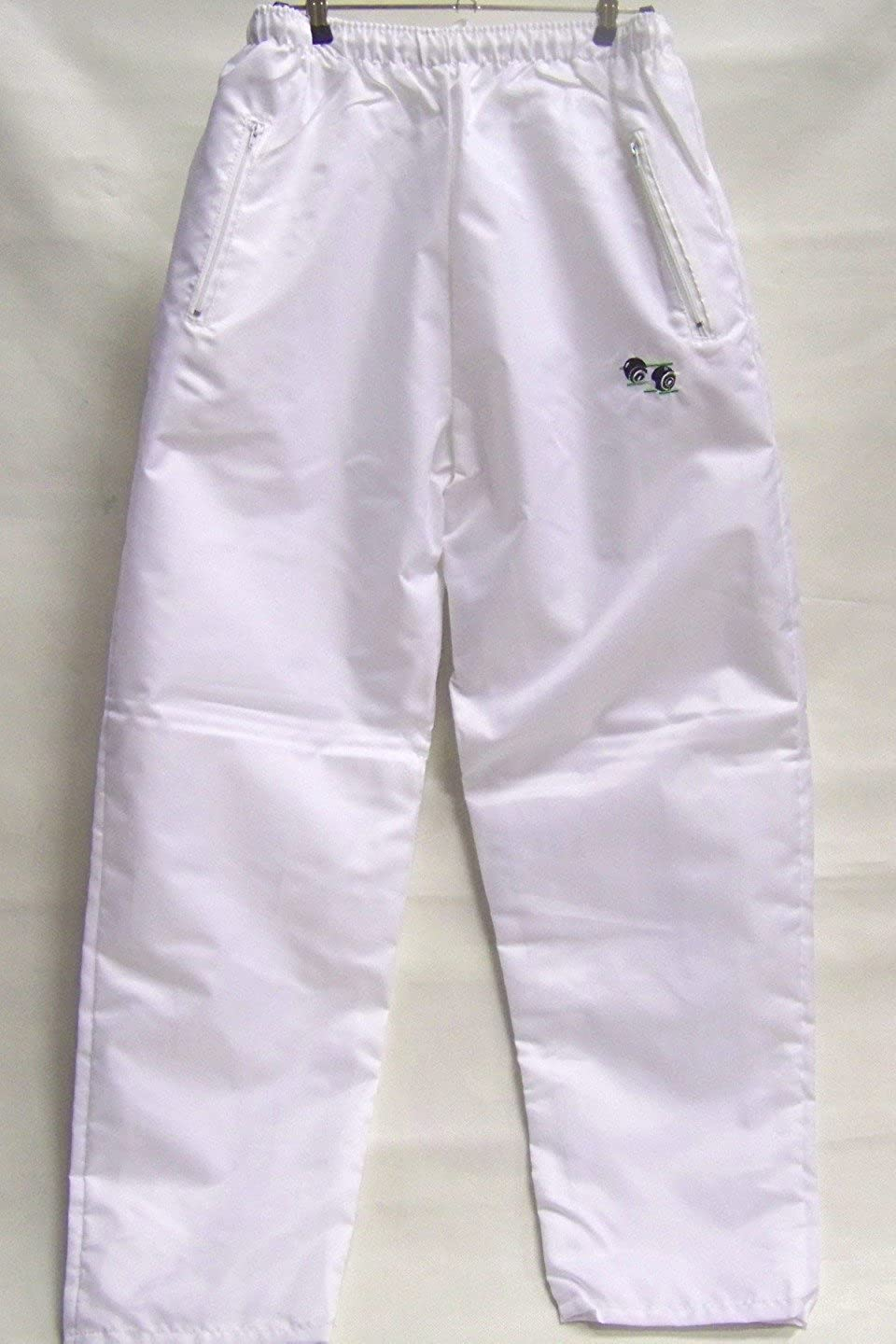 White Bowling Waterproof Trousers