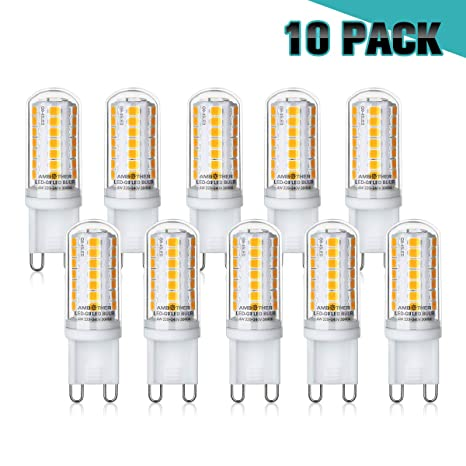 18d4b510b95 G9 LED Bulbs, AMBOTHER Light Bulbs 30W Halogen Bulb Equivalent Warm White  3000K AC220V 4W