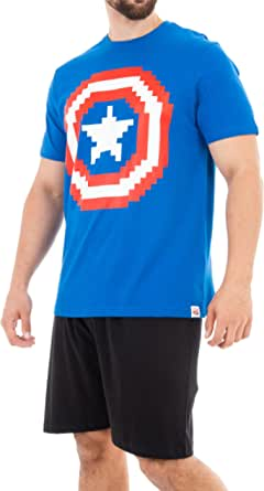 Marvel Pijama para Hombre Captain America