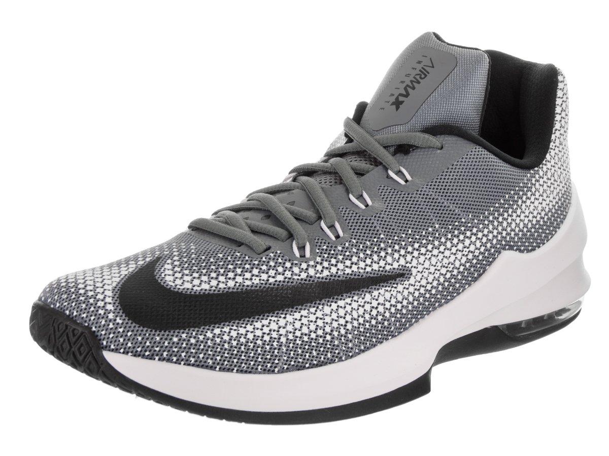 Nike Herren Air Max Infuriate Low Basketballschuhe  42.5 EU|Grau (Cool Grey/Black/White)