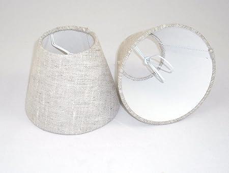 1 Pantalla para lámpara de mesa hecha a mano pequeña - Natural ...