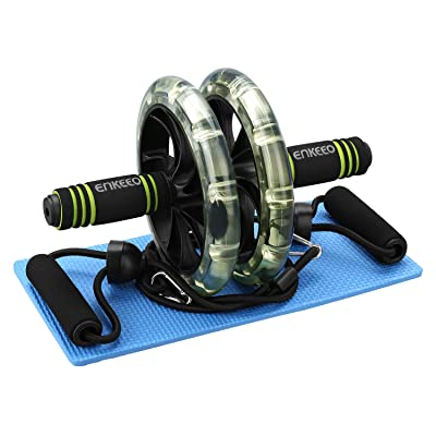 ENKEEO Ab Roller Wheel, Exercise Dual Wheel wit...