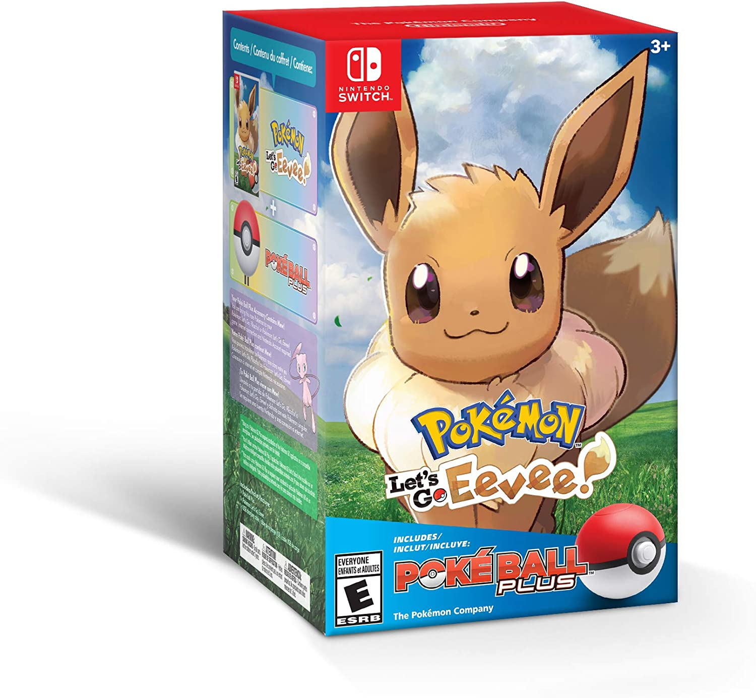 Amazon Com Pokemon Let S Go Eevee Poke Ball Plus Pack