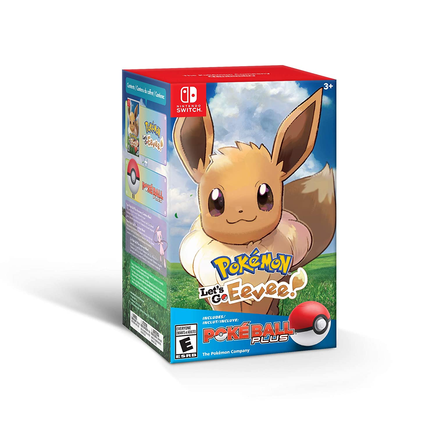 Pokemon Lets Go Eevee + Poke Ball Plus for Nintendo Switch USA ...