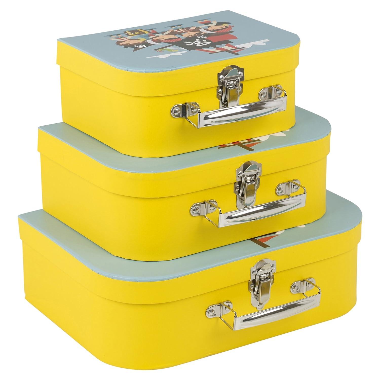 3pcs Boat Design Children's Suitcase Set EASYGIFT