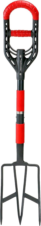Roamwild Multi-Digger Garden Digging Spading Fork – Fibreglass Light Weight Gardening with Unique Dual Soft AIR Light Grip Technology & Soil Lump Cutting Bladed Tines (Fork)